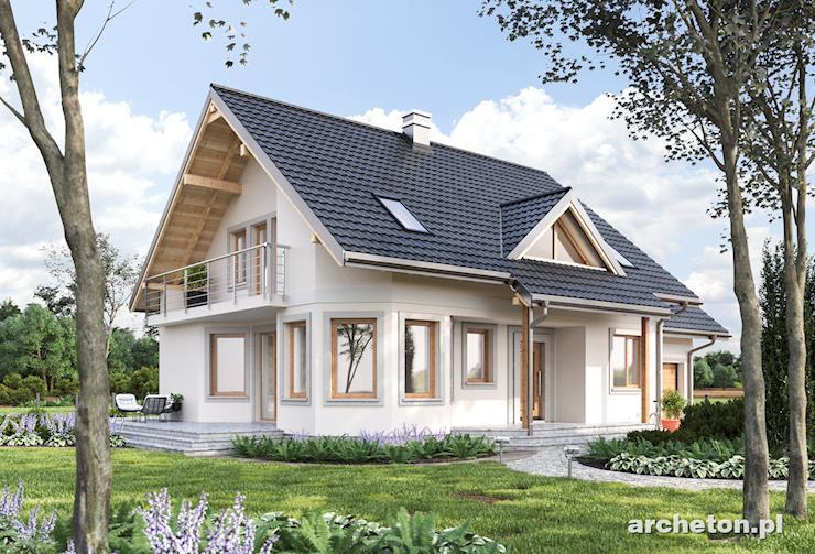 Projekt domu Maja Bona - dom z dwoma wejściami na taras