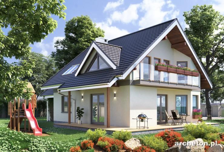 Projekt domu Maja Grota - dom z rodziny projektu Maja, całkowicie podpiwniczony