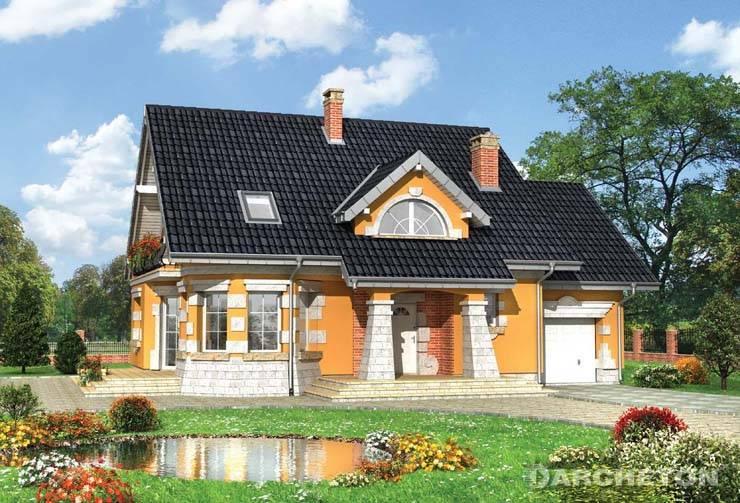Projekt domu Maja Krak - dom z historycznie zdobioną elewacją