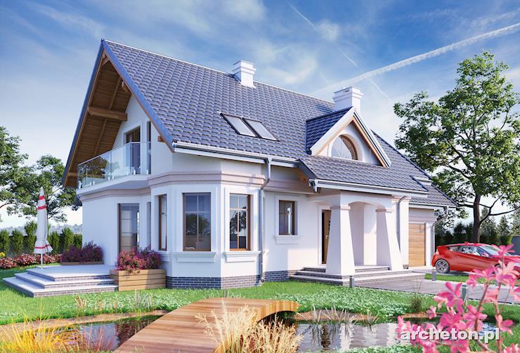 Projekt domu Maja Lux - atrakcyjny dom z siłownią na poddaszu