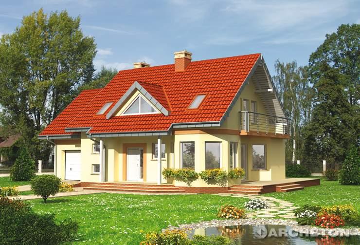 Projekt domu Maja Polo - domek z dużą kotłownią i garażem jednostanowiskowym