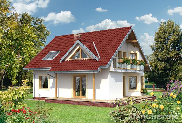 Projekt domu Maja Solo - dom z rodziny projektu Maja, bez garażu, z sauną na poddaszu