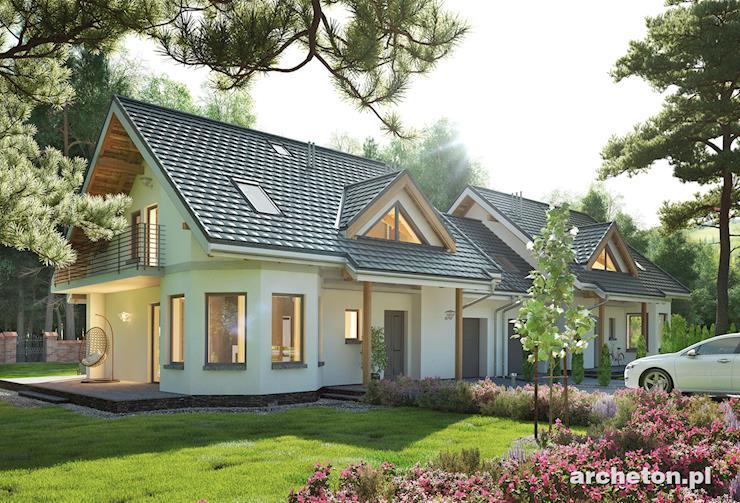 Projekt domu Majka Duo - mały niepodpiwniczony domek do zabudowy bliźniaczej