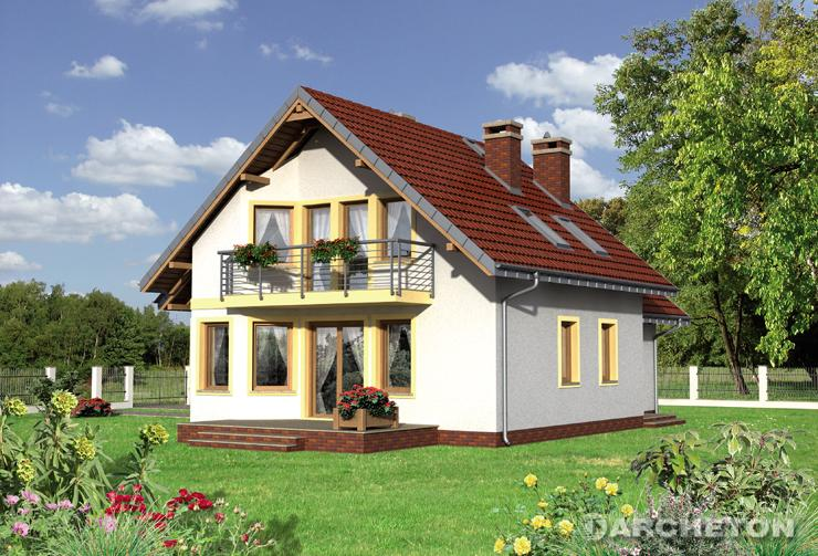 Projekt domu Majka Luna - dom z dużym otwartym pokojem dziennym