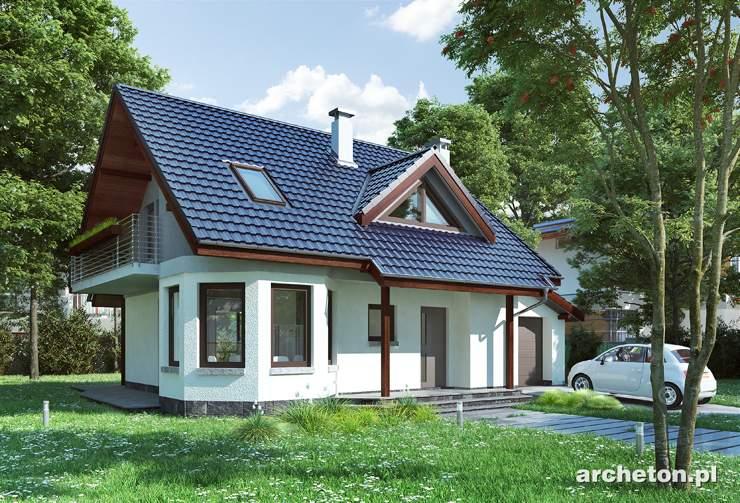 Projekt domu Majka Mini - nieduży dom z 3 sypialniami na poddaszu