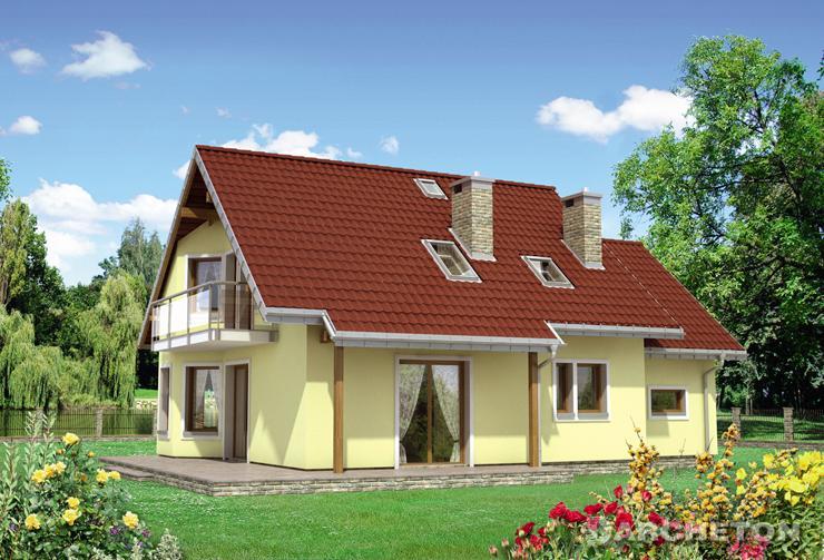 Projekt domu Majka Polo - dom z pralnią i kotłownią przy garażu