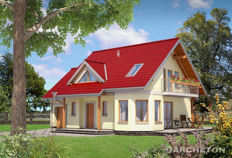 Projekt domu Majka Rex - dom z rodziny projektu Majka, z pokojem hobby nad garażem