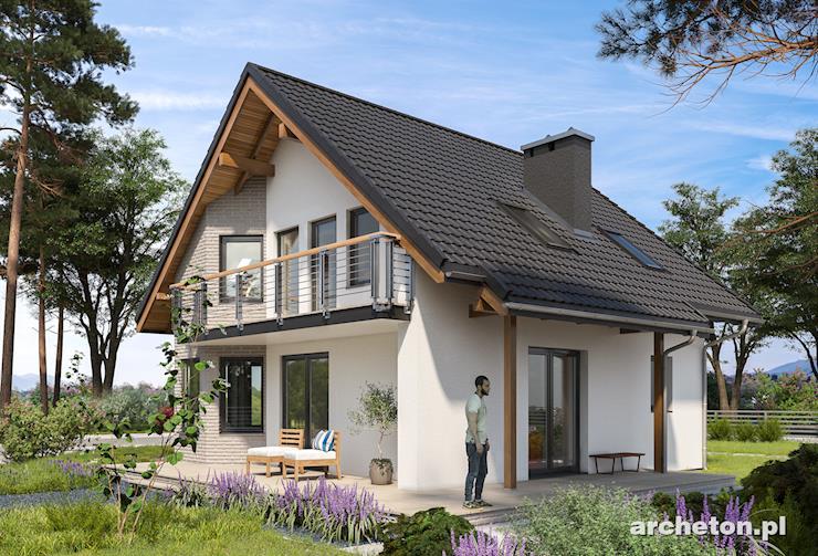 Projekt domu Majka Solo - nieduży, przytulny dom bez garażu