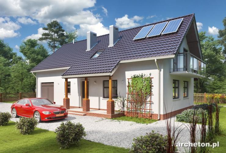 Projekt domu Malachit-2 - dom o prostej bryle, z wjazdem od południowej strony