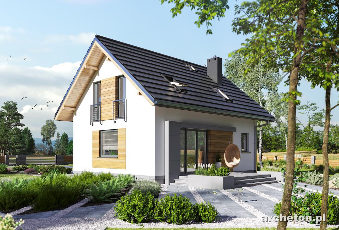 Projekt Domu Malik Prosty Dom Z Użytkowym Poddaszem Bez Garażu