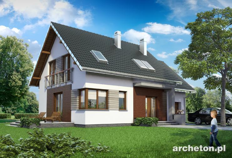Projekt domu Malina Alfa - bardzo oszczędny i energooszczędny dom, brak balkonów i frontowej lukarny