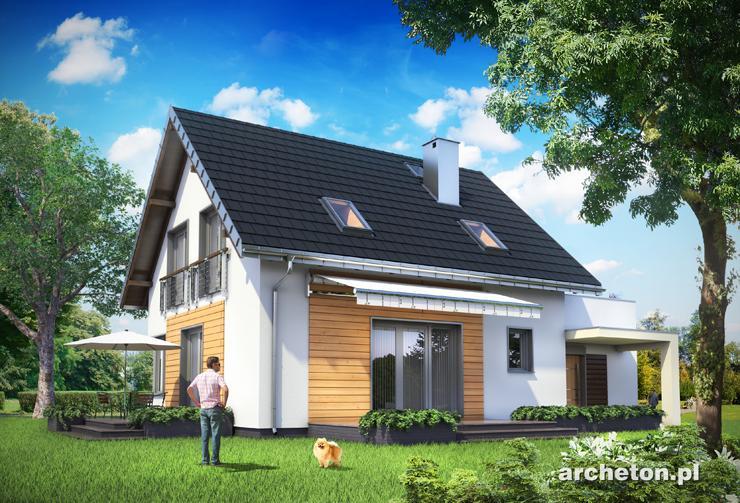 Projekt domu Malina Sto - dom z użytkowym poddaszem, idealny dla czteroosobowej rodziny