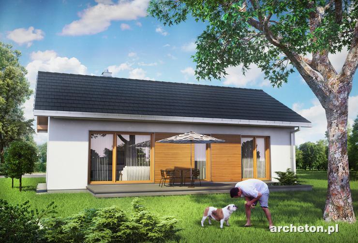 Projekt domu Maluch Bis - niewielki funkcjonalny dom parterowy, idealny dla 3 osób
