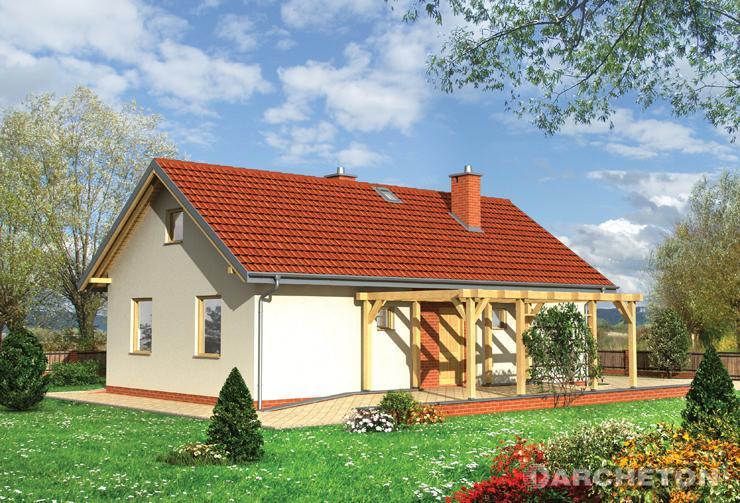 Projekt domu Maluch Bis - mały domek o symetrycznej kompozycji