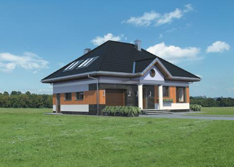 Projekt domu Mały Dworek