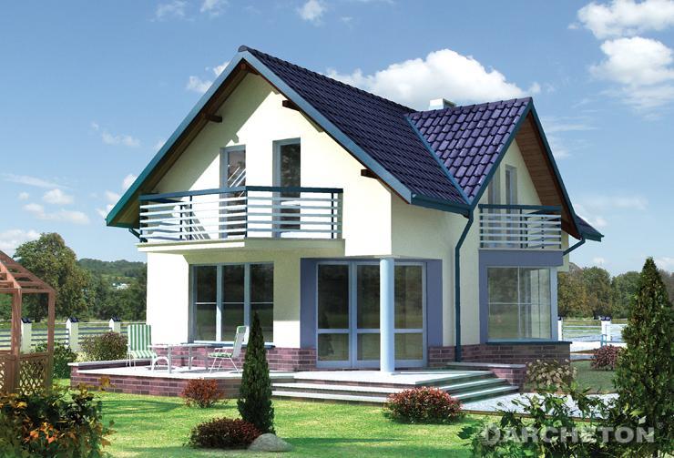 Projekt domu Mały Tukan - dom z trójkątnym wykuszem jadalni