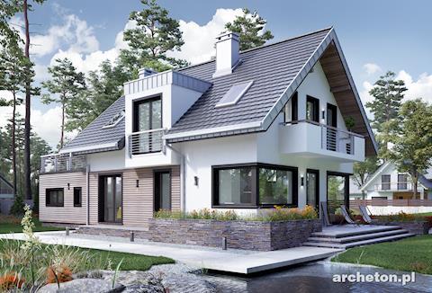 Projekt domu Margo Kubik - nowoczesny i funkcjonalny dom z tarasem nad garażem