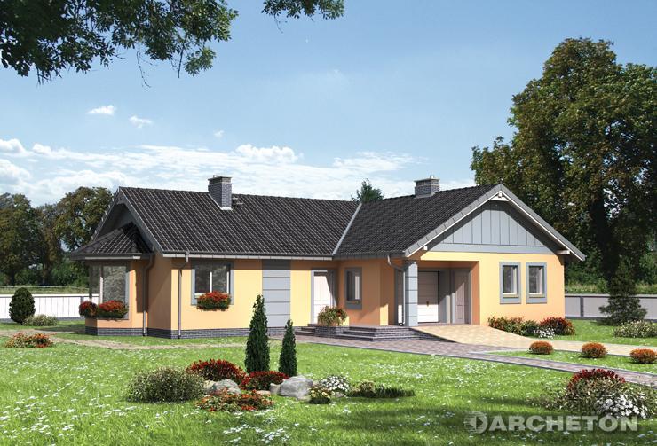Projekt domu Marika - dom parterowy na rzucie w kształcie litery