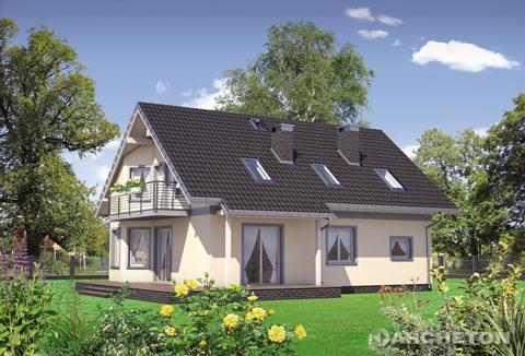 Projekt domu Mariola - atrakcyjny dom, idealny dla 5 osobowej rodziny