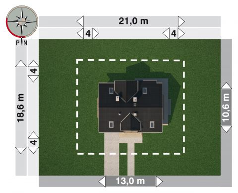 Projekt domu Mariola Polo