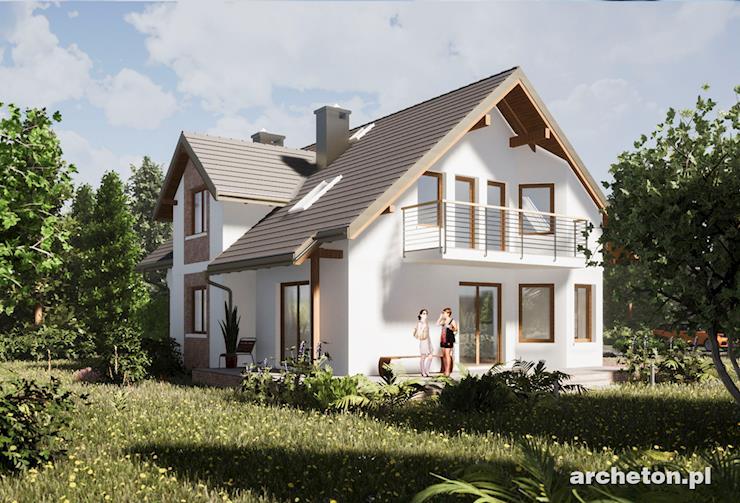 Projekt domu Mariola Polo - nowoczesny dom, z balkonem od frontu