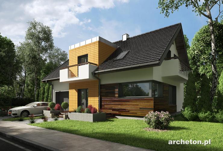 Projekt domu Marlena - atrakcyjny dom z nowoczesnymi detalami, w stylu Moderna