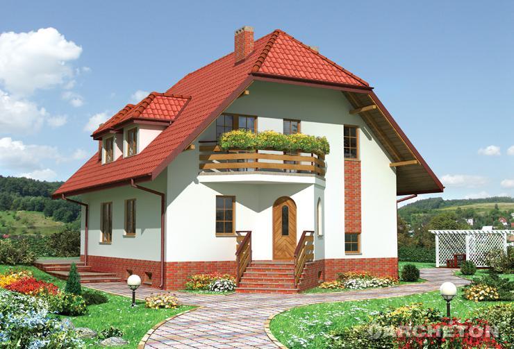 Projekt domu Marzanna - dom częściowo podpiwniczony, z dachem mansardowym