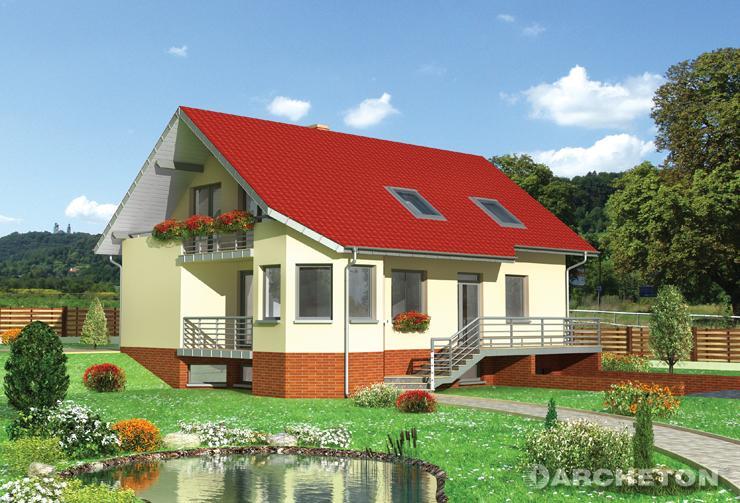 Projekt domu Melafir - dom całkowicie podpiwniczony, z dodatkowym pokojem na parterze