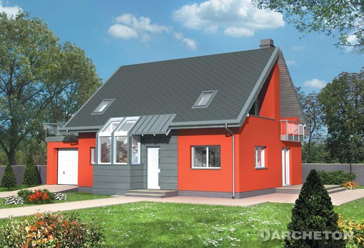 Projekt domu Melba - ciekawy domek z kolekcji Futura, z tarasem nad garażem