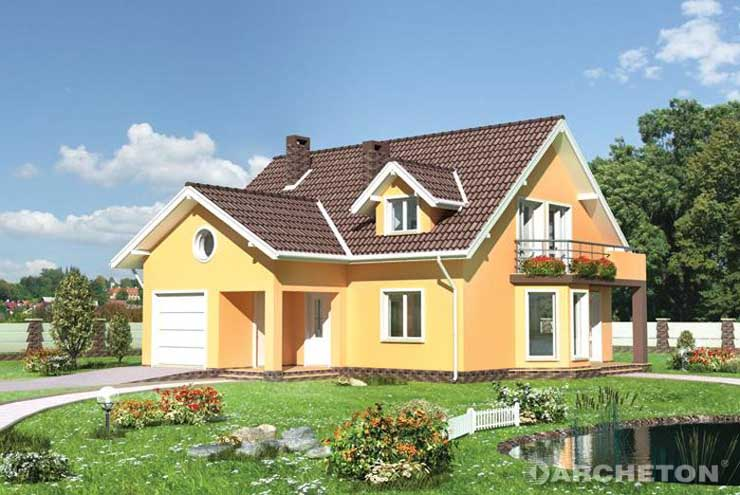 Projekt domu Melchior - dom z 4 sypialniami i dużą pralnią na poddaszu