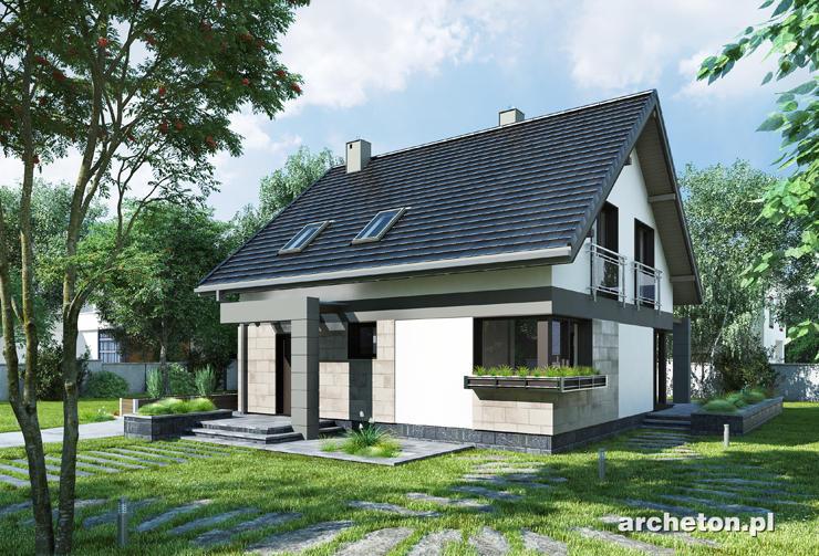 Projekt domu Melinda - prosty dom z przestronnym salonem i 3 pokojami na poddaszu