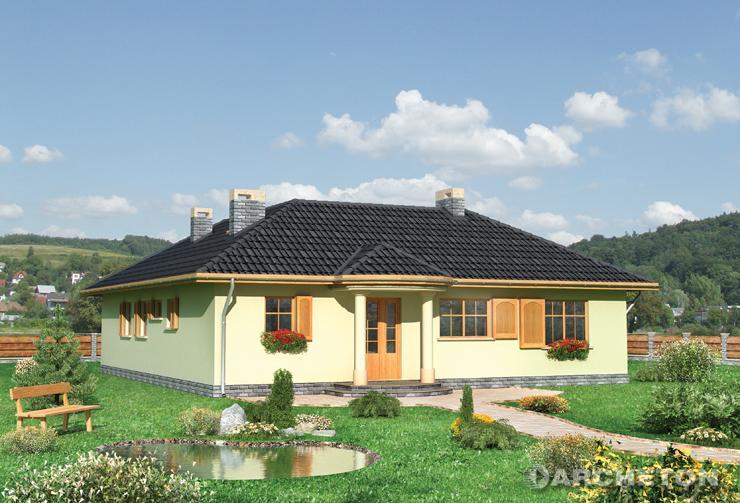 Projekt domu Menuet - dom parterowy na planie litery L