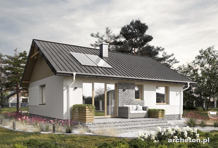 Projekt domu Mikro Eko - mały energooszczędny domek z 3 pokojami