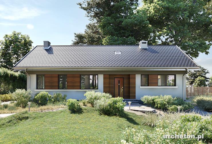 Projekt domu Milan Rex - tani w budowie dom parterowy do 120 m2, idealny dla 4 osobowej rodziny