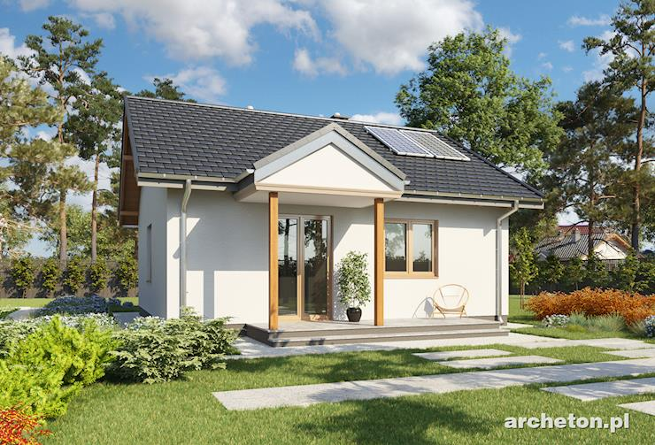 Projekt domu Miniatura - malutki domek parterowy na planie kwadratu