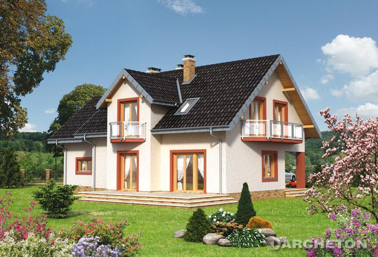 Projekt domu Mira Polo - dom z częścią gospodarczą i dzienną