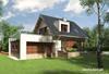 Projekt domu Mirona G2 - dom o zgrabnej o nowoczesnej bryle, z garażem na dwa samochody