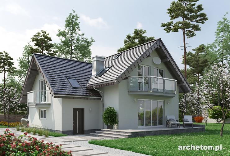 Projekt domu Mlecz Alfa - dom z kotłownią dostępną również z zewnątrz