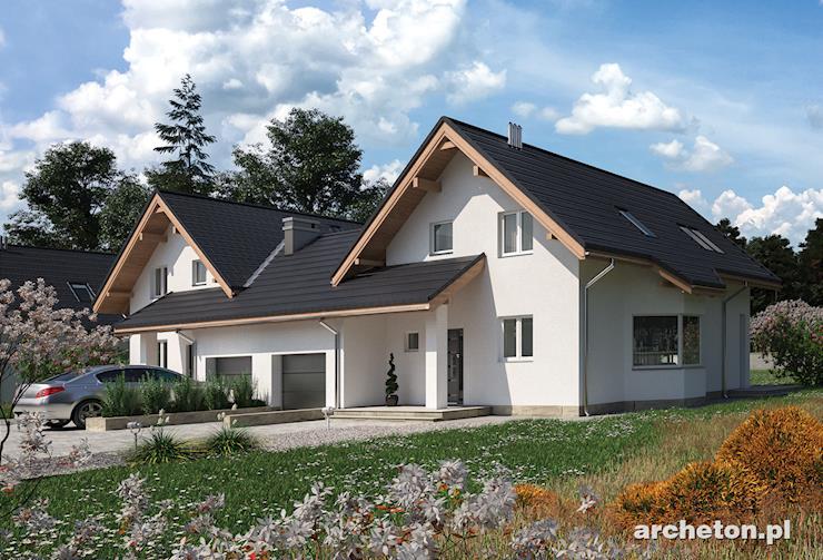 Projekt domu Mlecz Duo - dom do zabudowy bliźniaczej, idealny dla 4-6 osobowej rodziny
