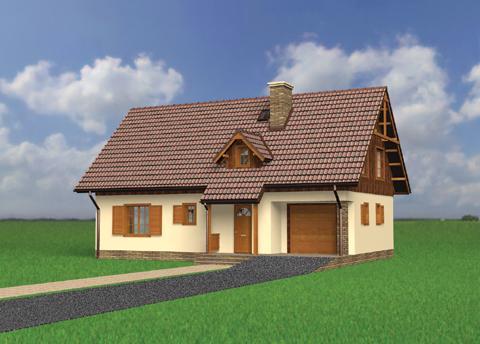 Projekt domu Modrak