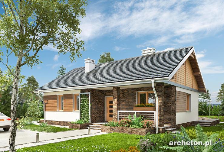 Projekt domu Modrzyk - domek parterowy dla 3 osób, bez garażu