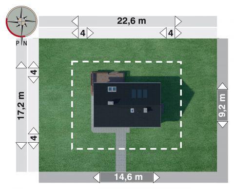 Projekt domu Modrzyk 2 Eko