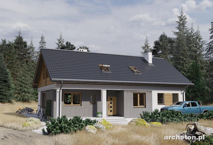 Projekt domu Modrzyk Max - funkcjonalny dom parterowy, z atrakcyjną antresolą