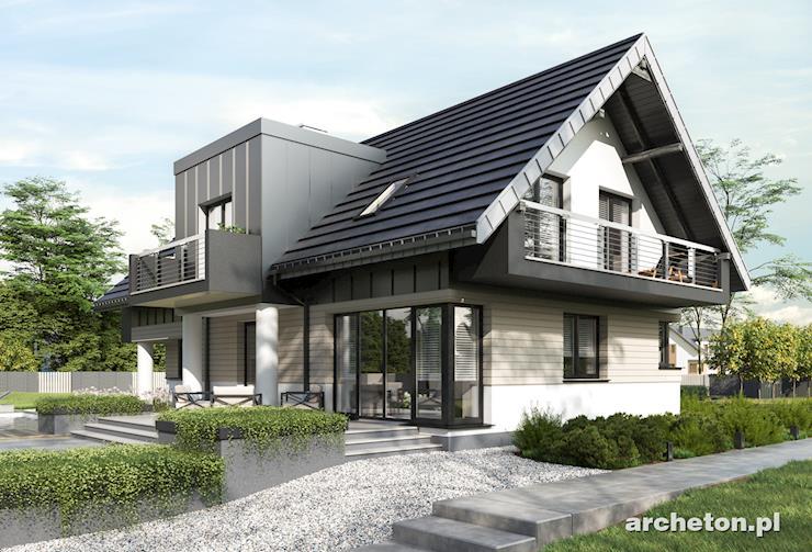 Projekt domu Mona Atu - nowoczesny i przestronny dom, z garażem na 2 samochody