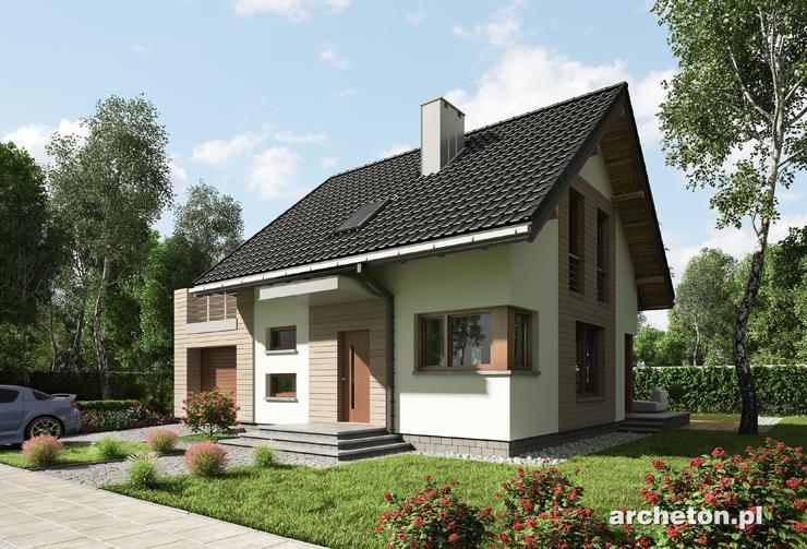 Projekt domu Nadar - przytulny dom z użytkowym poddaszem, z tarasem nad garażem
