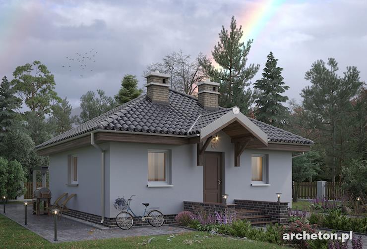 Projekt domu Na Kwadracie - prosty domek na rzucie kwadratu