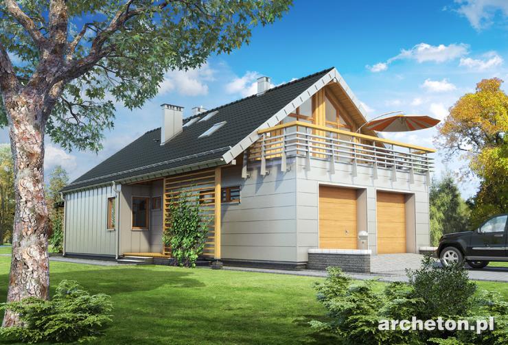 Projekt domu Noemi - nowoczesny dom z garażem na dwa samochody