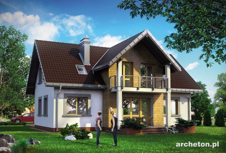 Projekt domu Nowina Polo - dom z użytkowym poddaszem, z 4 sypialniami na poddaszu