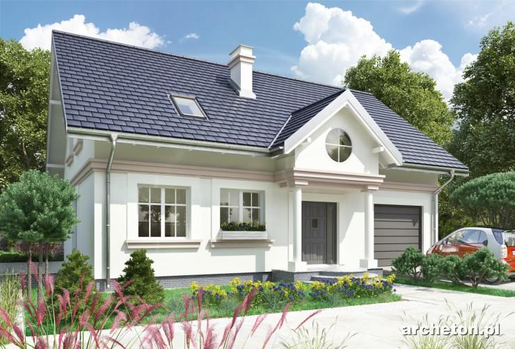 Projekt domu Nowy Dworek - dom z kotłownią przy garażu z możliwością wejścia z zewnątrz