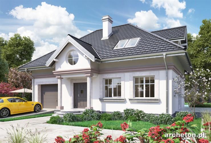Projekt domu Nowy Dworek-2 - dom półtorakondygnacyjny, z pralnią na poddaszu